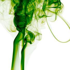 Alexandra K - Abstract Vertical Green Mood Colored Smoke Wall Art 03