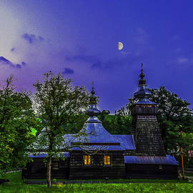 Julis Simo - Moon Over Wooden Orthodox Church in Berest in Poland