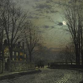 John Atkinson Grimshaw - Moonlight After Rain
