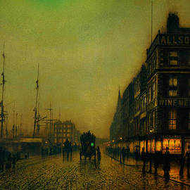 Atkinson Grimshaw Liverpool Quay - Moonlight