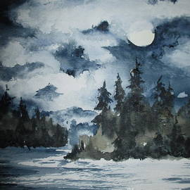 April McCarthy-Braca - Moonlight on Lake Simcoe