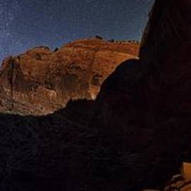 Mike Berenson - Moonlit Milky Way Panorama From False Kiva