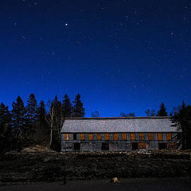 Marty Saccone - Moonlit Starscape At the Old Smokehouse