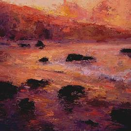 R W Goetting - Moonstone Beach at sunrise