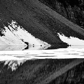 Stuart Litoff - Moraine Lake Abstract - Black And White #2