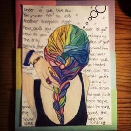 Carly Romano - More Art Lol #bored #girl #braid #hair