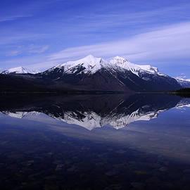 Larry Kjorvestad - Morning Reflection-Lake McDonald