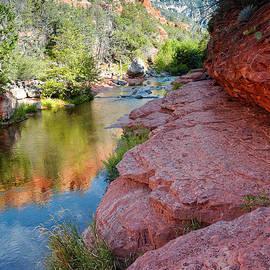 Silvio Ligutti - Morning Sun on Oak Creek - Slide Rock State Park Sedona Arizona