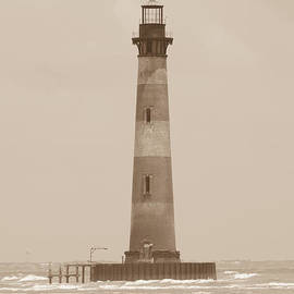 Dale Powell - Morris Island Lighthouse Sepia Tone