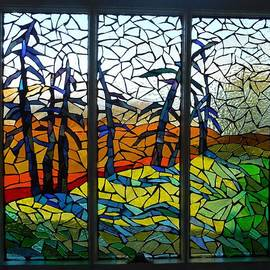Catherine Van Der Woerd - Mosaic Stained Glass - Dusk