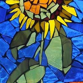 Catherine Van Der Woerd - Mosaic Stained Glass - Sunflower