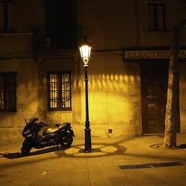 Madeline Ellis - Motorcycle by Lamplight in Barcelona
