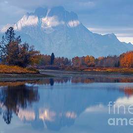 Vishwanath Bhat - Mount Moran from Oxbow Bend in Autumn