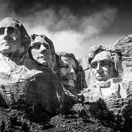 Debra Martz - Mount Rushmore National Memorial in Black and White