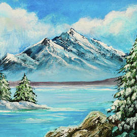 Bob and Nadine Johnston - Mountain Lake in Winter