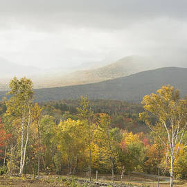 Keith Webber Jr - Mountain Rainstorms In Fall Mount Blue State Park Weld Maine