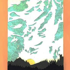 Dawn Senior-Trask - Mountain Sunrise - paper cut