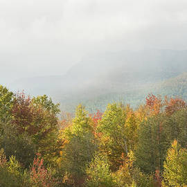 Keith Webber Jr - Mountains and Rain Storm In Fall Mount Blue State Park Weld