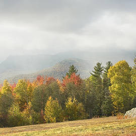 Keith Webber Jr - Mountains and Rain Storm In Fall Mount Blue State Park Weld Maine