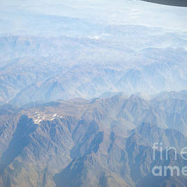 David Hill - Mountains of China - aerial view of Gansu Province