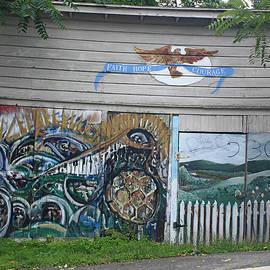 James Connor - Mural Along Westerlo Avenue