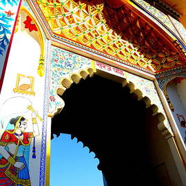 Sue Jacobi - Mural Painted Archway Udaipur City Palace Rajasthan India