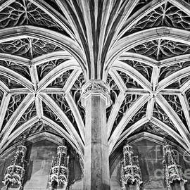 Bob and Nancy Kendrick - Musee de Cluny Chapel Vault - Black and White