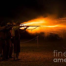 Dawna  Moore Photography - Musket Firing at Hofwyl-Broadfield Plantation Brunswick Georgi