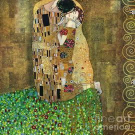 Elena Yakubovich - My acrylic painting as an interpretation of the famous artwork of Gustav Klimt The Kiss - Yakubovich