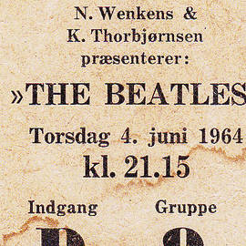 Kim Lessel - My Beatles concert ticket 1964