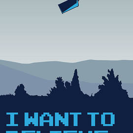 Chungkong Art - My I want to believe minimal poster- tardis