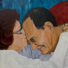 Manuel Lopez - My Parents original oil painting 36x24in