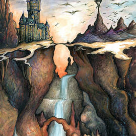 Peter Fine Art Gallery  - Paintings Photos Digital Art - Mysterious Canyon - Fantasy Art Painting
