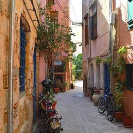 Ana Maria Edulescu - Narrow Street In Old City Of Chania Crete Greece