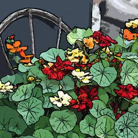 Sandra Foster - Nasturiums Thank You Card - Digital Art