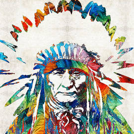 Sharon Cummings - Native American Art - Chief - By Sharon Cummings