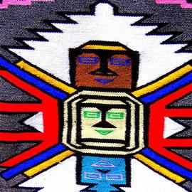 Photographic Art and Design by Dora Sofia Caputo - Native American Grey White Quilt Detail