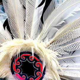Photographic Art and Design by Dora Sofia Caputo - Native American White Feathers Headdress