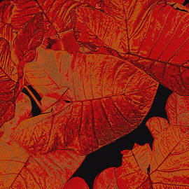 Ann Powell - nature - art- Leaves in Red