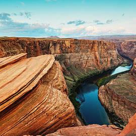 Silvio Ligutti - Navajo Sandstone Waves And Colorado River Horseshoe Bend Page Arizona II