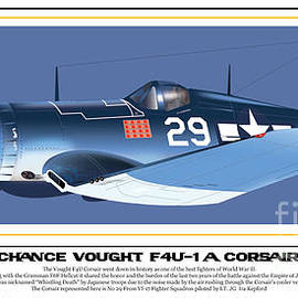 Kenneth De Tore - Navy Corsair 29 on Blue