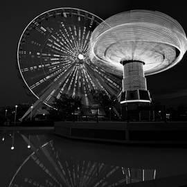Steve Gadomski - Navy Pier Nights Chicago B W