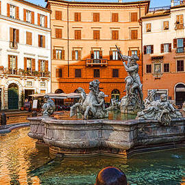 Georgia Mizuleva - Neptune Fountain on Piazza Navona - Impressions Of Rome