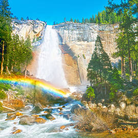 Steven Barrows - Nevada Fall In Late Afternoon
