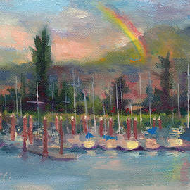 Talya Johnson - New Covenant - rainbow over marina