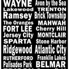 Joans Craft World - New Jersey Towns Canvas Art.com
