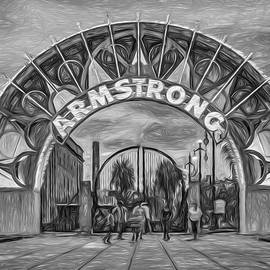Steve Harrington - New Orleans Louis Armstrong Park - Paint BW
