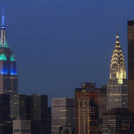Juergen Roth - New York City Empire State Building and Chrysler Building