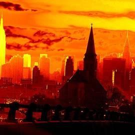 Ed Weidman - New York City Skyline Inferno