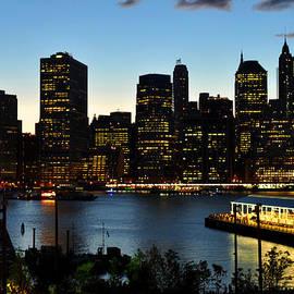 Diane Lent - New York City Skyline Just Before Dark